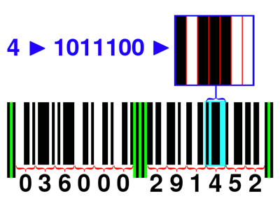 How are bar codes read?
